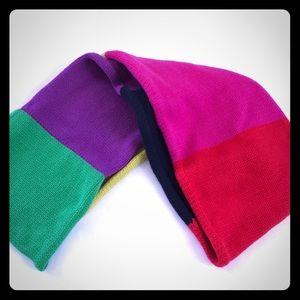 Kate Spade Infinity Cowl Colorblock Scarf Wool